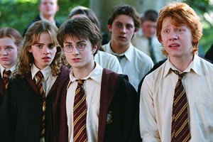 Rupert, as Ron Weasley, alongside Radcliffe in Potter films